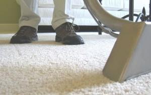 Vaccuuming Carpet